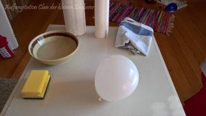 Bastelmaterial für Kugelhaus